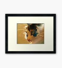 FURRY FELINE Framed Print