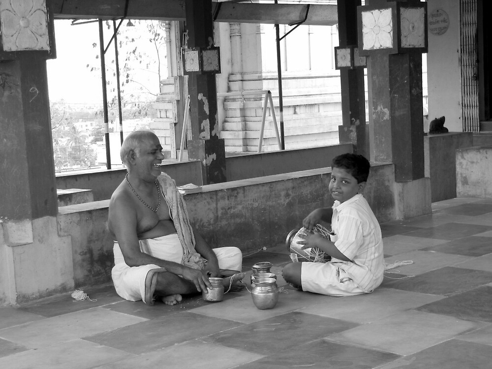 Grandfather and grandson by nisheedhi