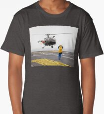 French Aérospatiale Alouette III Helicopter Long T-Shirt