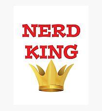 NERD KING Photographic Print