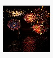 Fireworks Reflection In Water   Photographic Print