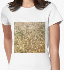 Wheat larger Women's Fitted T-Shirt