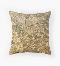 Wheat larger Throw Pillow