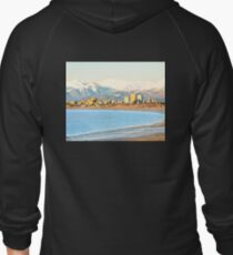 City view from the bay of Anchorage Zipped Hoodie