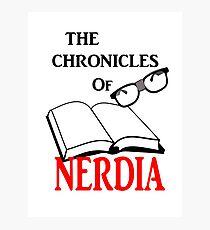 The Chronicles Of Nerdia Photographic Print