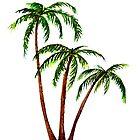 Triple 'Tree't - Palms by Linda Callaghan