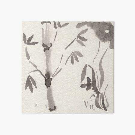 Bamboo At Night Art Board Print
