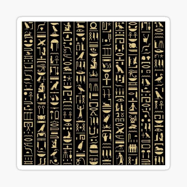 Black & Gold Hieroglyphics  Sticker