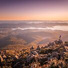 Hobart from Mt Wellington by Paul Fleming