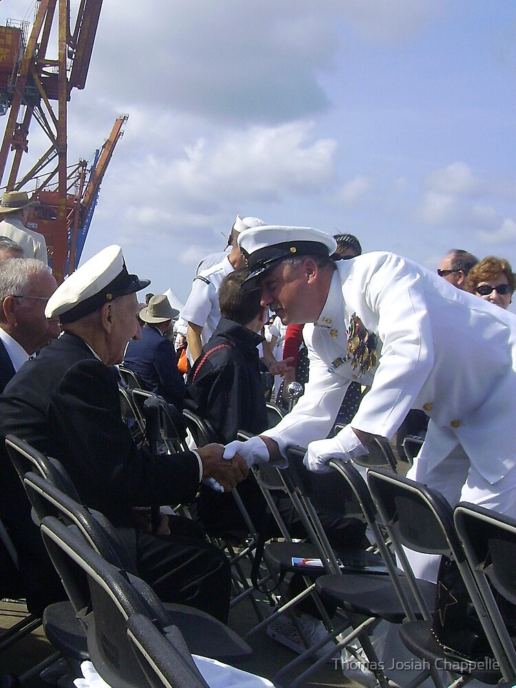 Welcoming another WWII veteran to ceremony by Thomas Josiah Chappelle