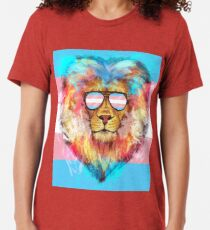 Trans Lion Pride Tri-blend T-Shirt