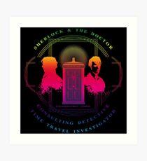 CONSULTING DETECTIVE & TIME TRAVEL INVESTIGATOR RAINBOW VERSION Art Print