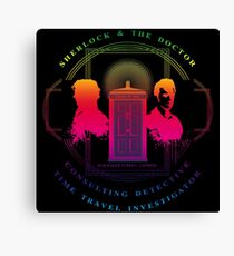 CONSULTING DETECTIVE & TIME TRAVEL INVESTIGATOR RAINBOW VERSION Canvas Print