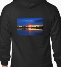 Sunset over Sleeping Lady Zipped Hoodie
