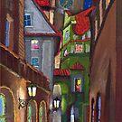 Prague Old Street 1 by Yuriy Shevchuk