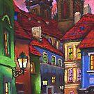 Prague Old Street 2 by Yuriy Shevchuk