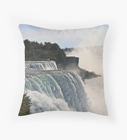 American Falls - Niagara Throw Pillow