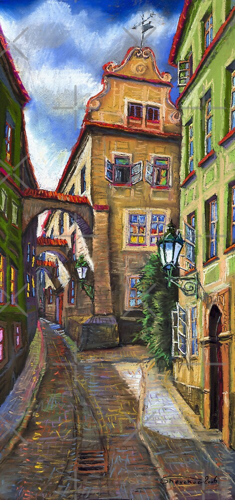 Prague Old Street 3 by Yuriy Shevchuk