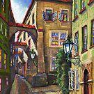 Prague Old Street 3 by Yuriy Shevchuk
