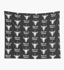 Sherlock - Cow skull (white text) Wall Tapestry