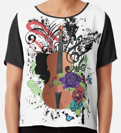 Grunge-Violine-Illustration Chiffontop