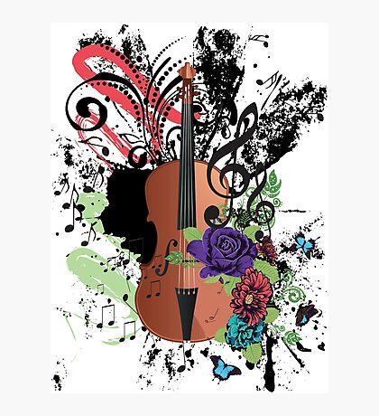 Grunge-Violine-Illustration Fotodruck
