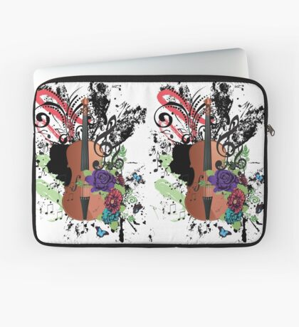 Grunge-Violine-Illustration Laptoptasche