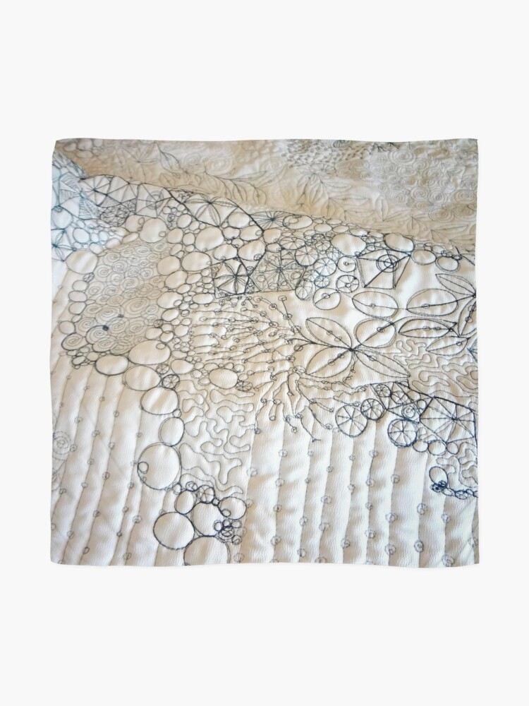 Alternate view of Rockpool - White #3 Scarf