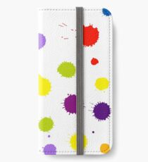 Seamless pattern background with rainbow blots iPhone Wallet