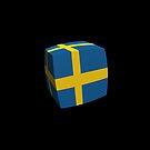 Swedish Flag cubed. by stuwdamdorp