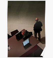 Man in Beaubourg, march 2008 Poster