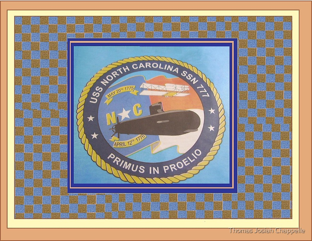 USS NORTH CAROLINA LOGO PATCH by Thomas Josiah Chappelle