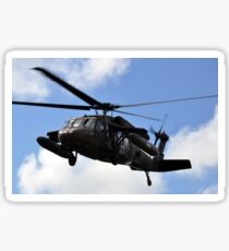 A UH-60 Black Hawk helicopter taking off. Sticker