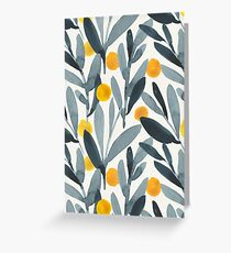 Indigo Mustard Greeting Card
