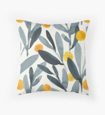 Indigo Mustard Throw Pillow