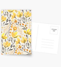 Yellow field Postcards