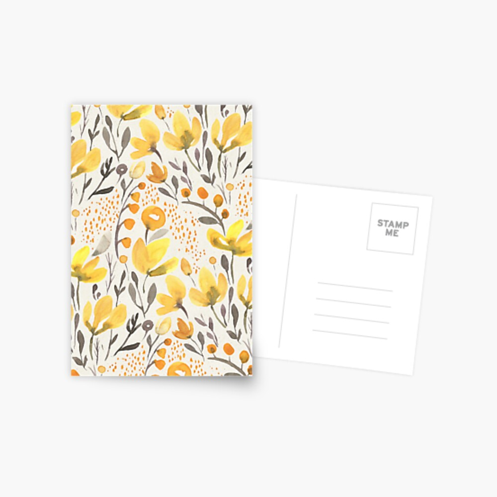 Yellow field Postcard