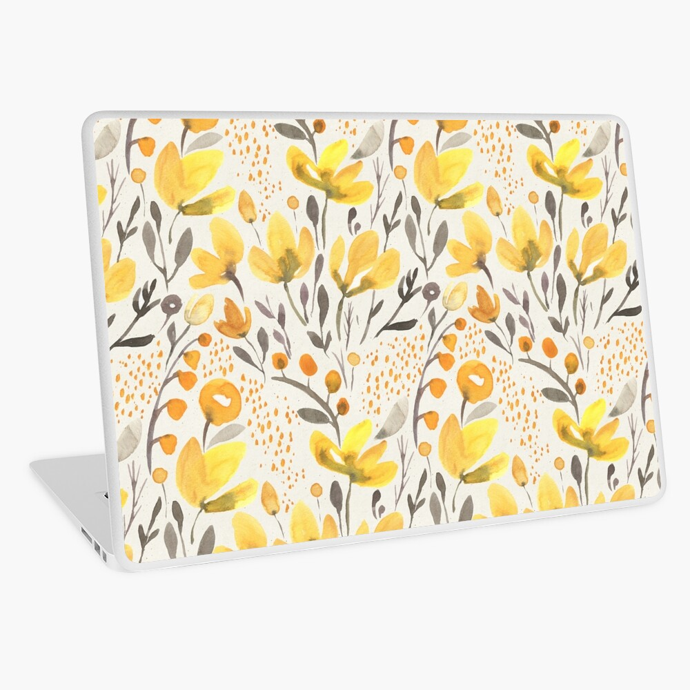 Yellow field Laptop Skin