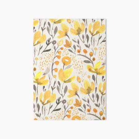 Yellow field Art Board Print