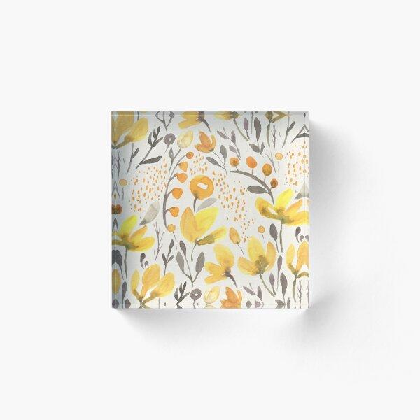 Yellow field Acrylic Block