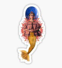 la sirena frida Sticker