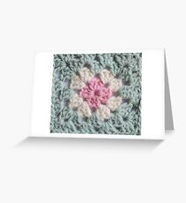 Duck egg granny squares Greeting Card