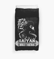 saiyan brothers from another planet saga power stron gym workout ki ape Duvet Cover