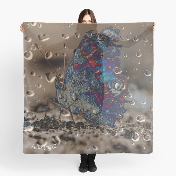 Raindrops - Peacock Butterfly Scarf