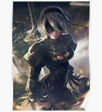 Nier Automata Sword Poster