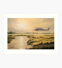 Pave Hawk Helicopter HH-60 On A Mission Art Print