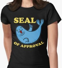 seal of approval funny ocean animal Women's Fitted T-Shirt