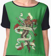 Super Green Women's Chiffon Top