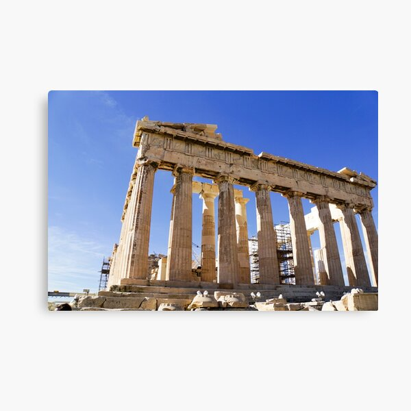 The Propylaia (main entrance), Acropolis, Athens, Greece Canvas Print