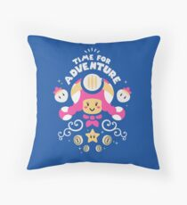 Time for Adventure Toadette Throw Pillow